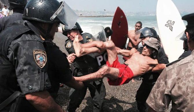 Police Arresting Surfer