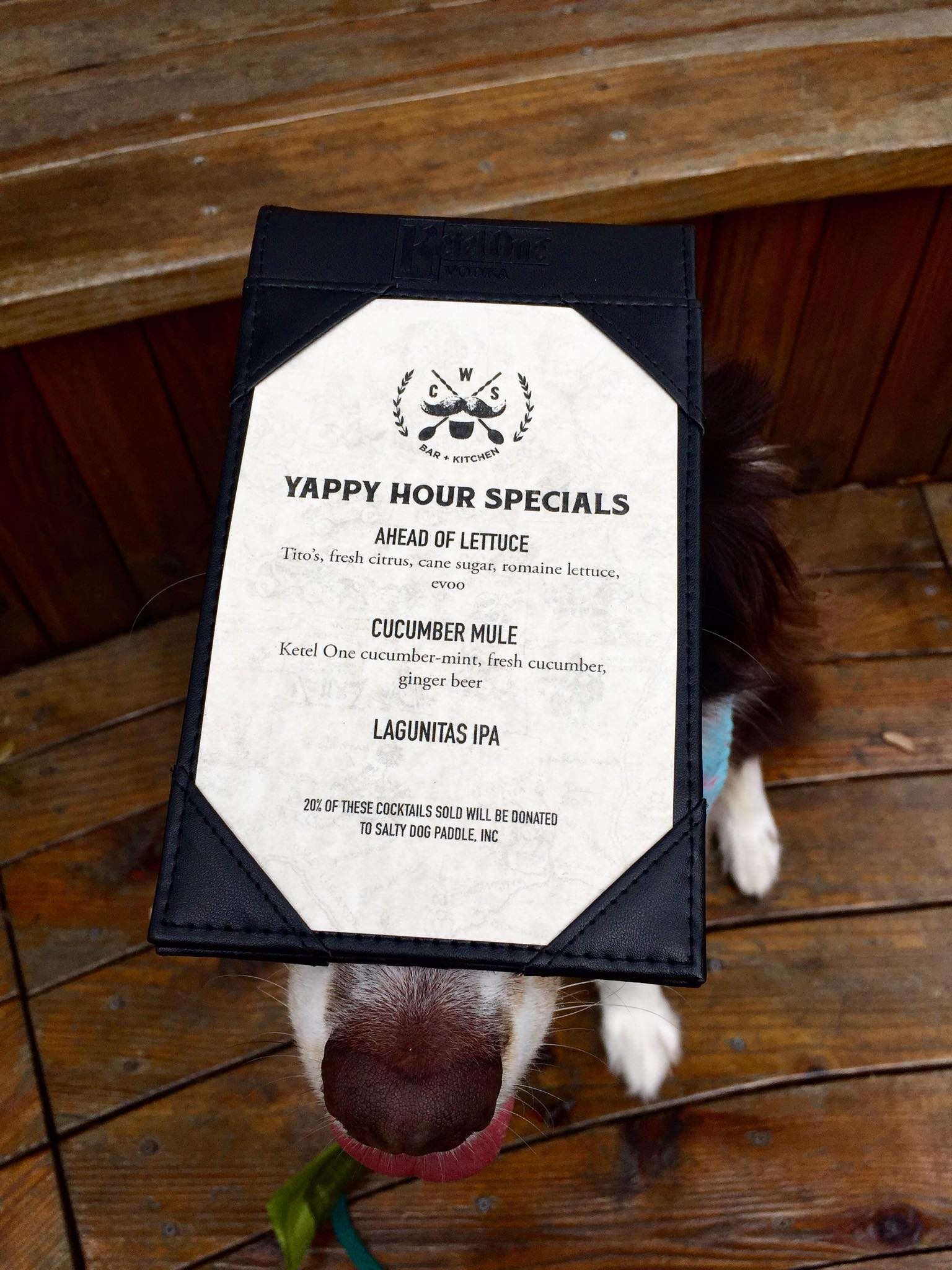 Yappy Hour Menu