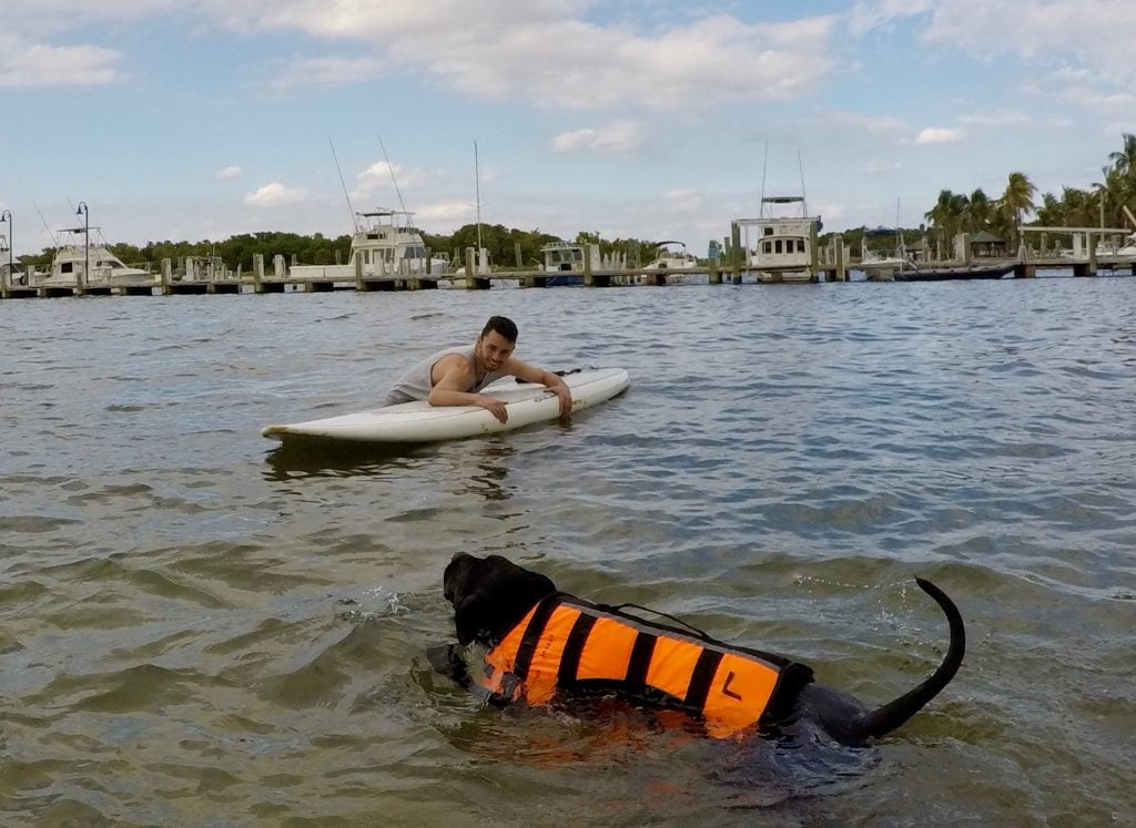 Destiny's first Paddle lesson