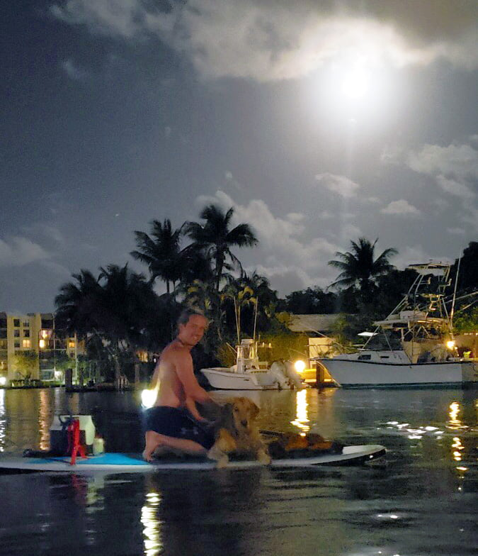 Full moon paddle Capone Island