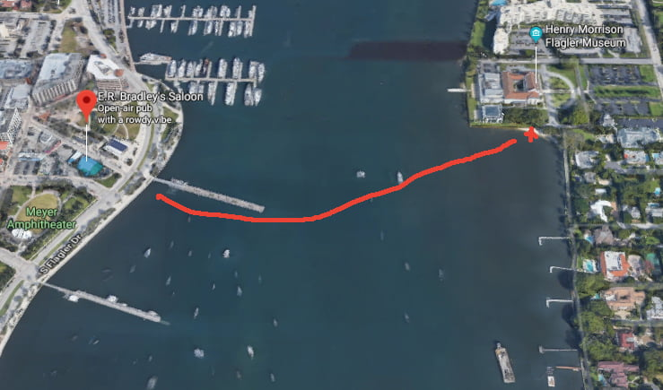 West Palm Beach Paddle Route