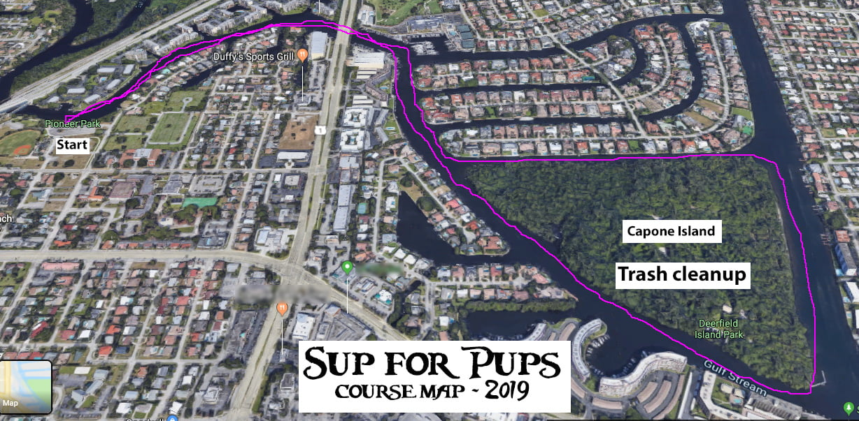 SUP for Pups Course Map