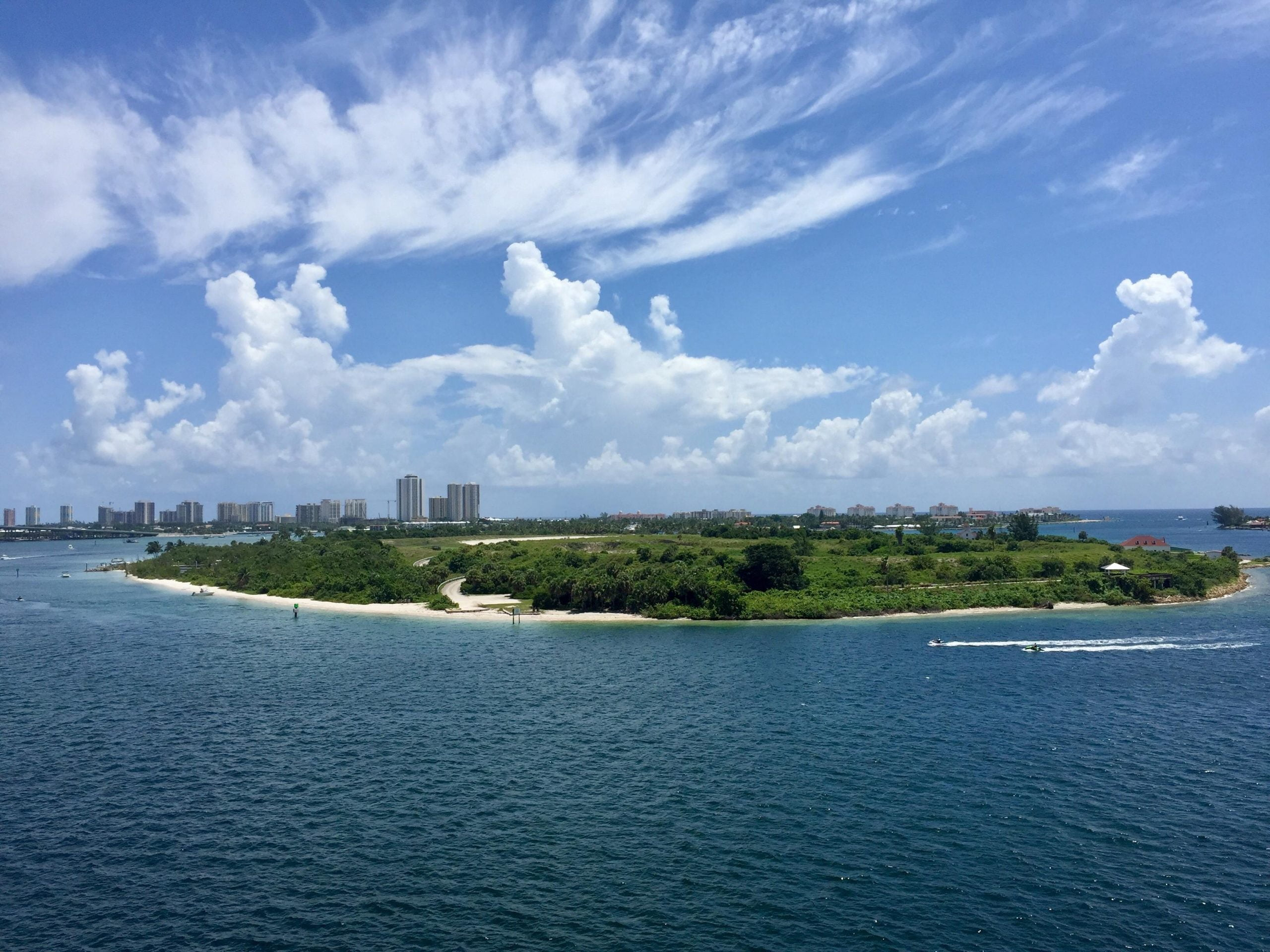 Peanut Island aerial view
