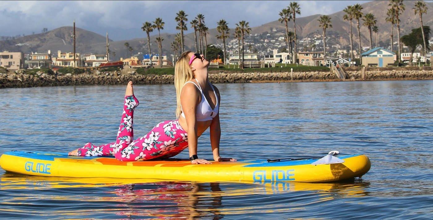 Salty Dog Paddle Inflatable Sunset Retro SUP
